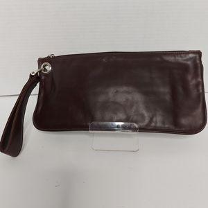 Hobo Vida brown leather clutch wristlet
